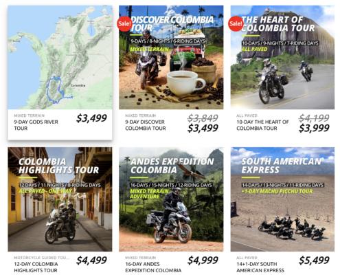 Colombia moto tours