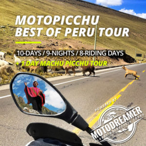 peru motorcycle tour pack